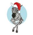 zebra hat - vector image