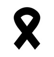 black icon awareness ribbon vector image
