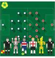 Costa Rica vs England vector image