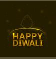 happy diwali background vector image