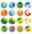 2008590 globe vector image vector image