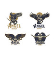angel man set of emblems vector image vector image