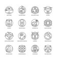 artificial intelligence line icons 5 vector image