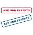 Ask Our Experts Rubber Stamps vector image vector image