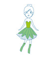 beautiful fairy character icon vector image vector image