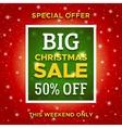 Big Christmas Sale promo banner template vector image vector image