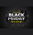 black friday sale special discount background vector image vector image