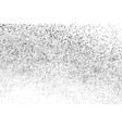 black grainy texture isolated on white vector image vector image