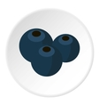 Blueberries icon flat style vector image vector image