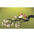 branch blooming cherry vector image vector image
