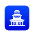 buddhist temple icon digital blue vector image vector image