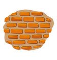 cartoon image of wall icon wall brick symbol vector image vector image