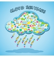 Cloud network technology service emblem vector image vector image