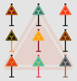 collection of network badge road signs wifi vector image vector image