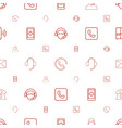 contact icons pattern seamless white background vector image vector image