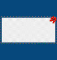 cute christmas or new year border with candy cane vector image vector image