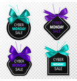 cyber monday sale labels promotion price tags vector image vector image