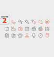 devices ui pixel perfect well-crafted thin vector image vector image