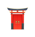 entrance with roof isolated chinese gate building vector image vector image