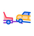 evacuate vehicle icon outline vector image