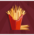 fast food with fries vector image