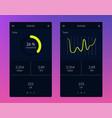 fitness app ui ux design vector image vector image