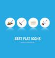 flat icon garden set of harrow wooden barrier vector image vector image