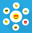 flat icon gesture set of have an good opinion vector image vector image