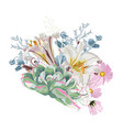 floral spring card or poster graphic design vector image vector image