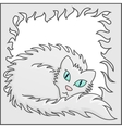 Fluffy Frame With White Fluffy Cat vector image vector image