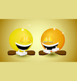 funny daytwo laughing balls vector image vector image