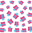 gifts boxes presents pattern vector image