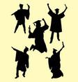 graduation silhouette vector image vector image