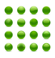Green round buttons vector image