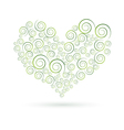 green swirls heart vector image vector image