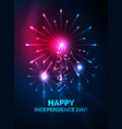 happy independence day 4 july fireworks design vector image