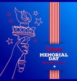 happy memorial day - greeting card vector image vector image