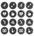 Health and fitness icons retro labels set vector image vector image