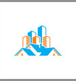home and building logo template vector image