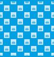 kitchen stove pattern seamless blue vector image