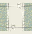 lace frame with beautiful flowers vector image