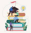learning progress and book reading vector image vector image