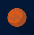 mars planet icon flat style vector image