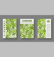 medical cannabis cover templates set for design vector image