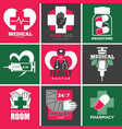 medical care and drugstore family doctor vector image