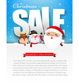 Merry christmas sale text with santa claus eps10 vector image