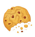 oatmeal delicious cookie icon bakery and biscuit vector image