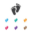 of baby symbol on foot step vector image