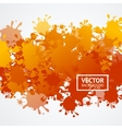 Orange Drop Blot Background vector image vector image