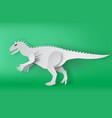 paper art of indominous rex dinosour on green vector image vector image